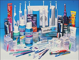oral hygiene products assortment
