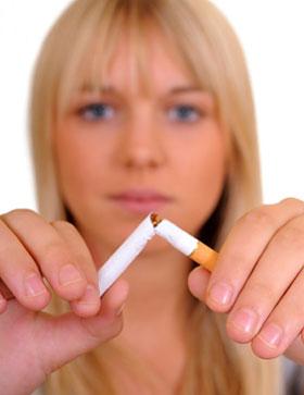 woman breaking the habit